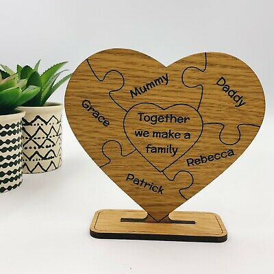 £9.99 • Buy Personalised Birthday Mothers Day Christmas Gift Her Mum Mummy Dad Family Heart