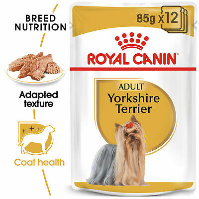 Royal Canin Yorkshire Terrier Adult Wet Dog Pouches 85g X 12  FAST DELIVERY • 13.95£