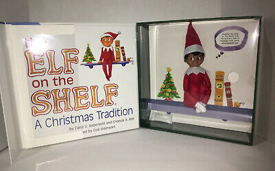 AU39.53 • Buy New Elf On The Shelf A Christmas Tradition Brown-Eyed Boy Dark Skin Scout Book