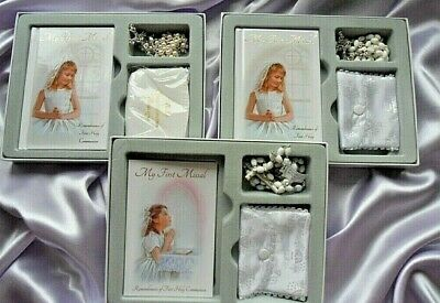 1st First Holy Communion Gift Set For A Girl. 1st Communion Rosary Missal Gift • 11.99£