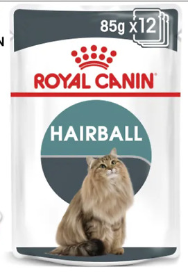Royal Canin Hairball Cat Wet Pouches In Gravy 85g X 24  FREE NEXT DAY DELIVERY • 24.75£