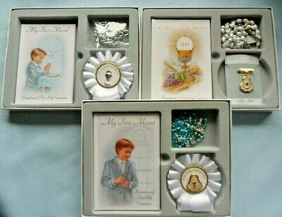 First 1st Holy Communion Gift Set For A Boy 1st Communion Rosary, Missal, Gift • 12.99£