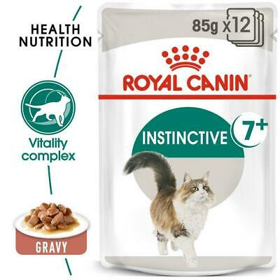 £14.99 • Buy Royal Canin Instinctive 7+ Cat Pouches In Gravy 85g X 12  FREE NEXT DAY DELIVERY