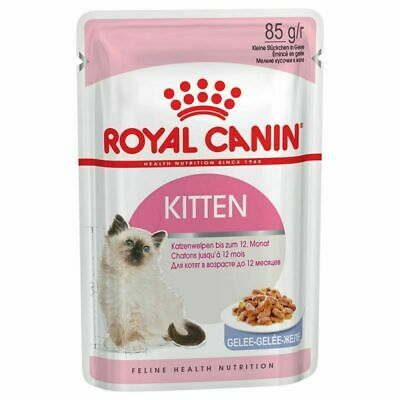 £48.99 • Buy Royal Canin Kitten Cat Wet Pouches In Jelly 85g X 48  FREE FAST DELIVERY