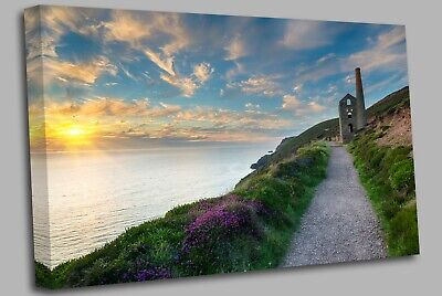 £19.99 • Buy Cornwall Coast At St Agnes Canvas Wall Art Picture Print