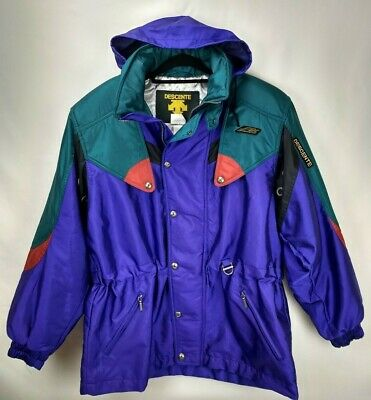 $72.99 • Buy Vintage Descente Mens Ski Snowboard Jacket Coat Large Purple Insulated Hooded