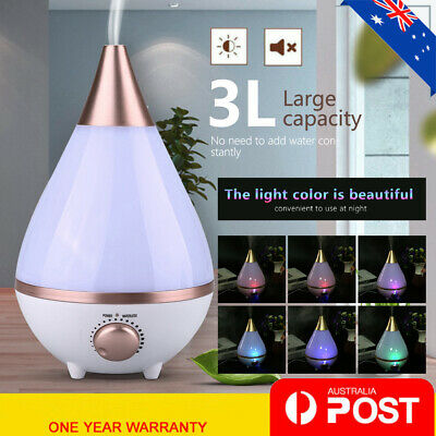 AU37.98 • Buy 3L Ultrasonic Aroma Aromatherapy Diffuser Electric Air Humidifier Essential LED