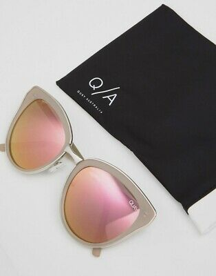 AU25 • Buy Quay Every Little Thing Silver/Pink Sunglasses