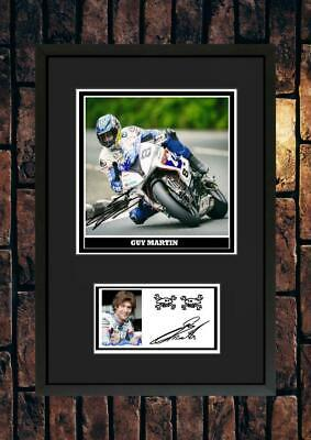 (#268) Guy Martin Superbikes  Tt Signed A4 Mounted Photo Or Framed ++++++++++++ • 6.99£