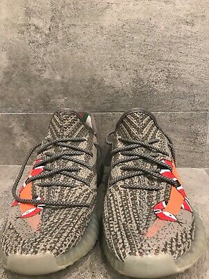 AU143 • Buy Yeezy 350 V2 Beluga Solar Red Custom Snake Painting By Local Customiser