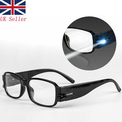 Reading Glasses Eyeglass Spectacle Diopter Magnifier LED Lighting Up +1.5~+4.0 • 4.29£