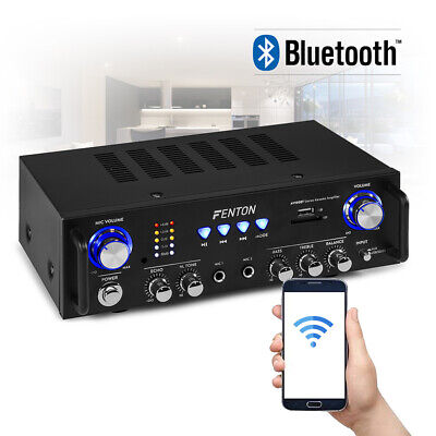 Fenton AV100BT Stereo HiFi Amplifier With Bluetooth USB Home Audio System 100w • 67£