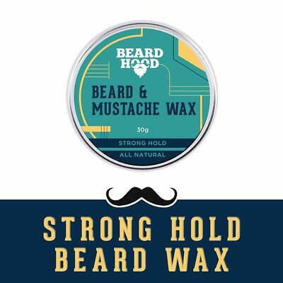 Beardhood Mustache And Beard Wax | For Strong Hold, Natural Musky Scent | 30g • 18.55£
