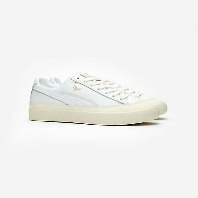 Puma Unisex Clyde Rubber Toe 366986 01 Puma White Leather Lace Up Trainers • 51.90£