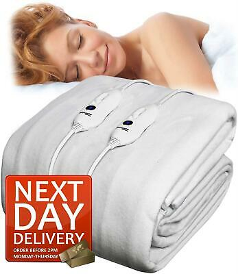 Electric Blanket Single Double King Size Super Heated Washable Bed • 36.99£