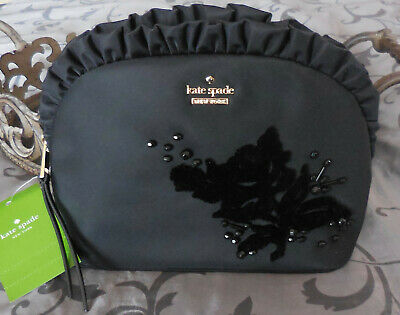 $ CDN52.66 • Buy Kate Spade ~Small MARCY Dawn Place Embellished Cosmetic Case Bag~BLACK~NWT $119