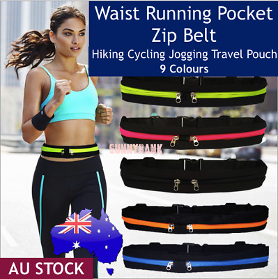 AU4.85 • Buy Running Bum Bag Waist Zip Pouch Fanny Pack Running Jogging Travel Belt Sport Bag