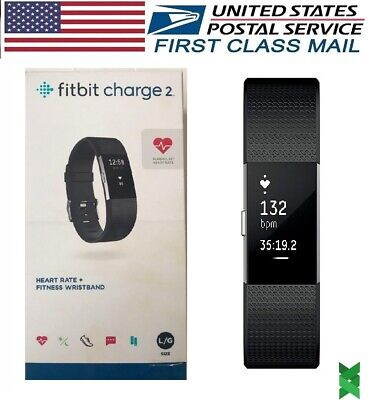 $ CDN84.36 • Buy Fitbit Charge 2 Heart Rate Monitor Fitness Activity Tracker Small Large Black #1