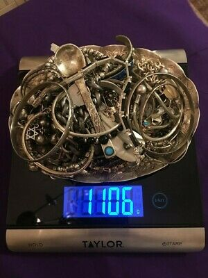 $ CDN912.98 • Buy Large Lot Sterling Silver 925 Wearable Jewerly 1106 Grams
