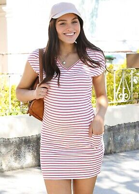 AU69.95 • Buy NEW  - Trimester™ - Ava Pocket Dress In Pink Stripe | Maternity Clothes