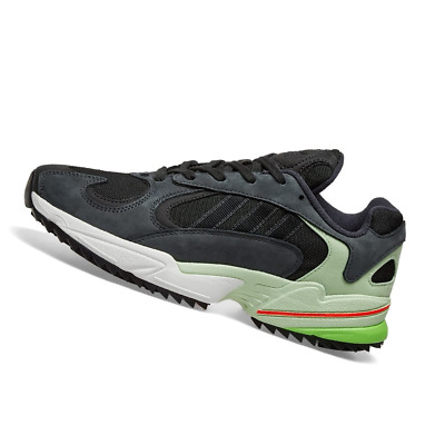 AU131.95 • Buy ADIDAS MENS Shoes Yung 1 Trail - Carbon, Black & Green - EE6538