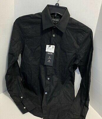 $17.49 • Buy Zara Man Smart Black Button Up Long Sleeve Dress Shirt Size Small NWT