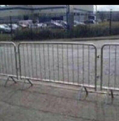 PEDESTRIAN BARRIERS - CROWD CONTROL Used But  Good Condition (fixed Leg)£13.00 • 13£