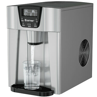 $169.99 • Buy 2 In 1 Ice Maker Water Dispenser Countertop 26Lbs/24H LCD Display Portable New