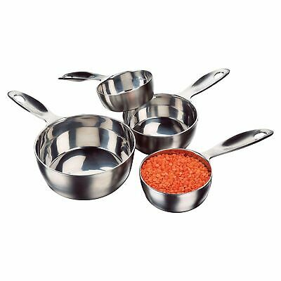 $28.25 • Buy Amco 4-Piece Stainless Steel Measuring Cup Set,Dishwasher Safe Durable NEW