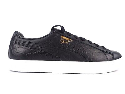 Puma Unisex Clyde Dressed 361704 01 Puma Black Leather Lace Up Casual Trainers • 43.71£