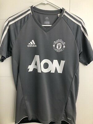 $19.99 • Buy Manchester United Soccer Adidas Jersey AON Gray Men's Size Small