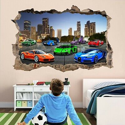 Super Sports Cars Supercar Wall Sticker Mural Decal Self-adhesive Print Art DT23 • 22.99£