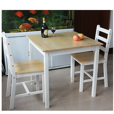 £49.99 • Buy Panana Solid Pine Dining Table 2/4Chairs Bistro Set Kitchen Home Furniture