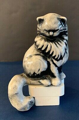 $24.99 • Buy Vintage Ceramic Arts Studio Cat Shelf SitterPersian Black White