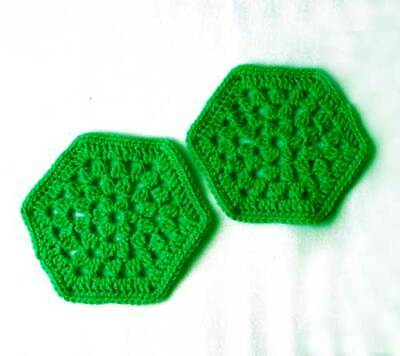 $7.99 • Buy Set Of 2 Green Hot Pads Crochet Trivets Kitchen Dining Table Mats Home Decor New