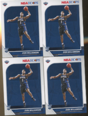 $49.89 • Buy Ten Zion Williamson 2019 Hoops 10 Count Lot Rookie Cards Card Number 258  Rc