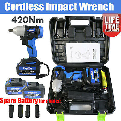 View Details Genuine Cordless Impact Wrench & 4 Sockets / Charger / 21V 6.0Ah Li-Ion Battery • 59.90£