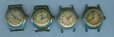 $ CDN13.05 • Buy Lot Of 4 Vintage Men's MILITARY STYLE Wrist Watches (Parts Or Repair)