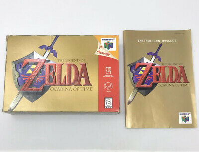 $25 • Buy Zelda Ocarina Of Time -N64- GOLD BOX And MANUAL ONLY- No Game.