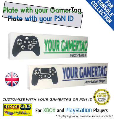 $ CDN19.60 • Buy 3D Plate With XBOX GamerTag Or Playstation PSN ID Custom Name Video Game Merch
