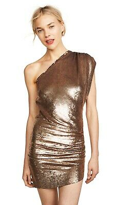 $ CDN248.77 • Buy New Iro Gold Exciter Sequin Embellished Ruched Mini One Shoulder Dress $596