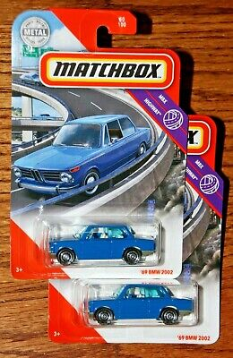 $4.95 • Buy 2019 Matchbox Mbx Highway Blue '69 Bmw 2002 Two Car Lot In Blister Htf