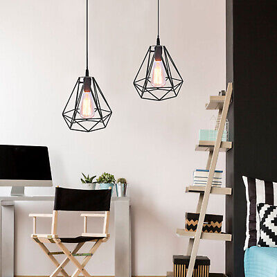 £13 • Buy Geometric Wire Design Chandelier Lampshade Variety Colors For Bedroom Decoration
