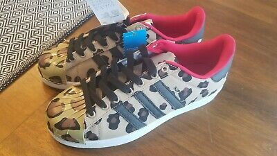 $ CDN80 • Buy Adiddas Superstar Shell Toe Pack - S75185 - Leopard Print