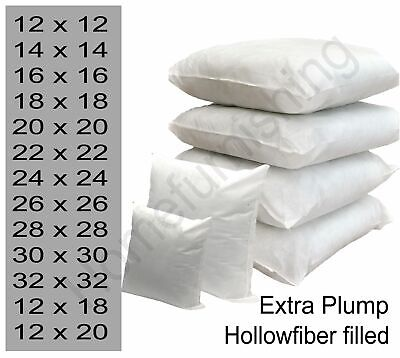 £5.95 • Buy Filled Cushion Inner Inserts Pads Large Hollowfibre 18 22 24 26 28 30 InchCover