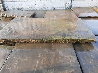 £85 • Buy Reclaimed Antique Smooth York Stone Slabs Flags Thestonedealer Best On Ebay £85