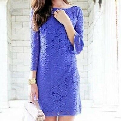 $17 • Buy Lilly Pulitzer Purple Crochet Lace Dress With Bell Sleeves Size M