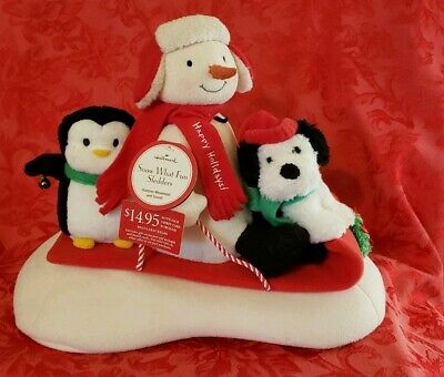 $22 • Buy Hallmark Jingle Pals Snow What Fun Sledders Animated Plush New With Tags