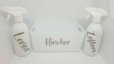 £7.99 • Buy Personalised Mrs Hinch Spray Bottle Or Caddy, Or Set - Choose Your Options