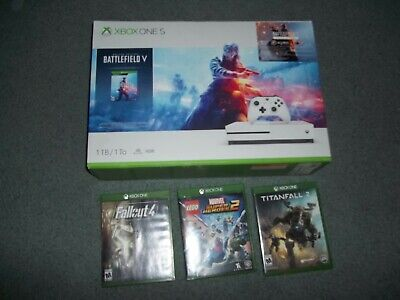 $195 • Buy Microsoft Xbox One S 1TB Battlefield V Console Bundle - White +3 Extra Games!
